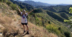 Samantha Levy trekking